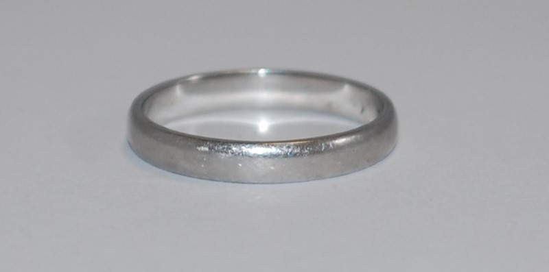 Lady's Platinum Ring 950 Platinum 3.48g Size:6.5