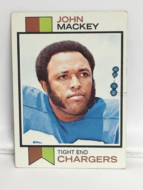 Vintage Topps 1973 John Mackey #118 San Diego Chargers Football Card