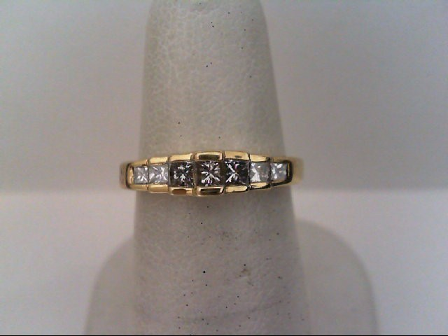 Lady's Diamond Wedding Band 7 Diamonds .52 Carat T.W. 14K Yellow Gold 3.3g