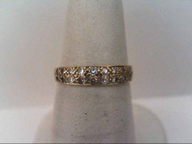 Lady's Diamond Fashion Ring 18 Diamonds .18 Carat T.W. 14K Yellow Gold 1.6g