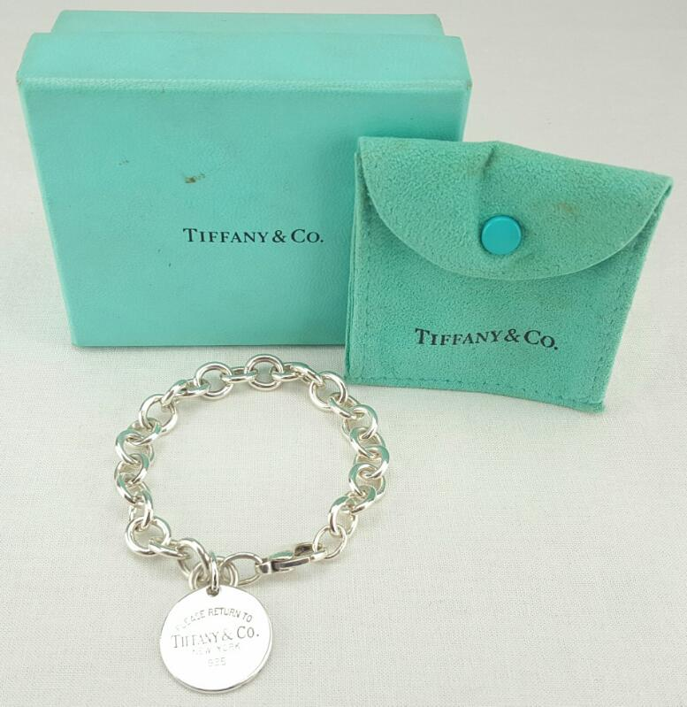 Tiffany & Co. Please Return To Tiffany Tag Bracelet 925 8""