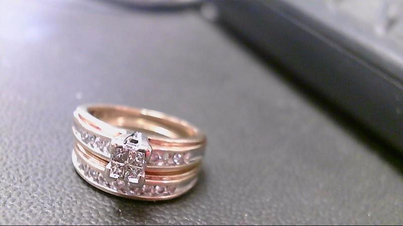 Lady's Diamond Wedding Set 20 Diamonds 1.32 Carat T.W. 10K Yellow Gold 6.1g