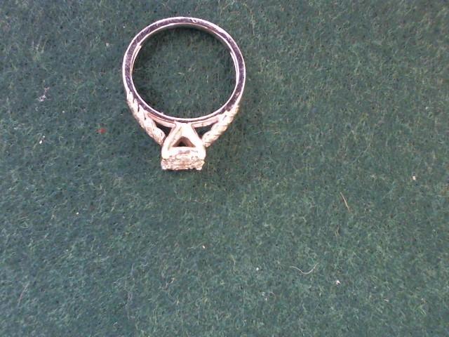 Lady's Diamond Engagement Ring 22 Diamonds .47 Carat T.W. 10K White Gold 2.9g