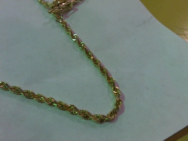 """30"""" Gold Rope Chain 14K Yellow Gold 10.7g"""