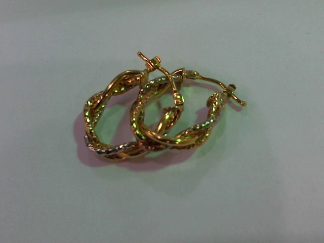 Gold Earrings 14K Yellow Gold 2.1g