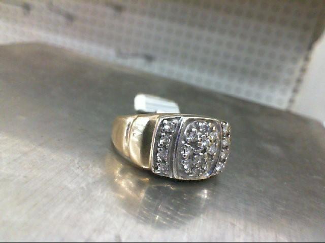 Gent's 18 0.35CTW Diamonds Ring 7.1G 10KYG