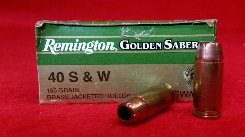 Remington 40 S&W 165gr Golden Saber JHP Ammo
