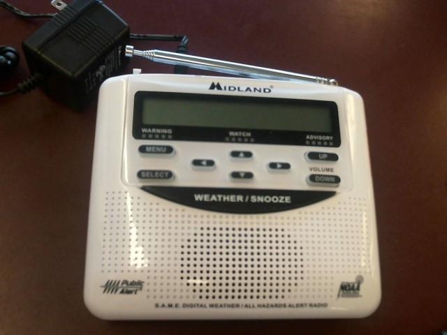 MIDLAND WEATHER CLOCK RADIO WR-120EZ