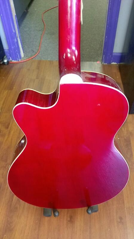 MAIN STREET GUITAR COMPANY ACOUSTIC GUITAR RED/BLACK