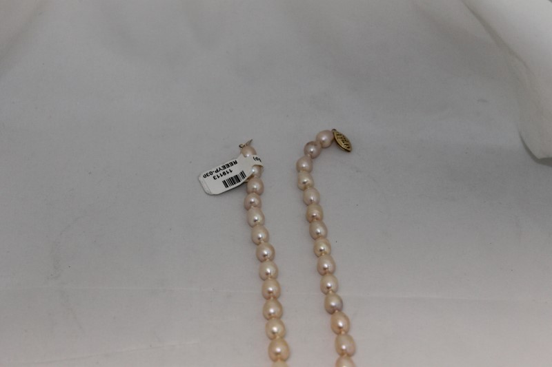 "15"" Inch Chinese Cultured White Pearl Necklace"