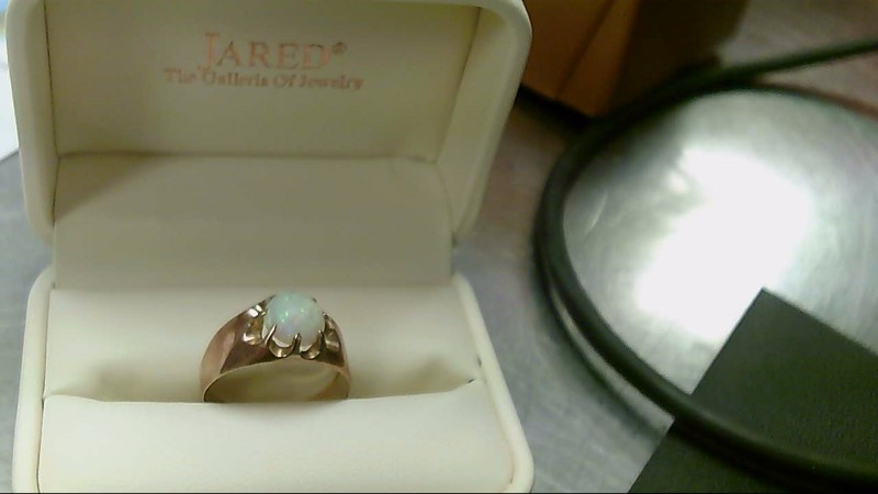 Opal Gent's Stone Ring 14K Yellow Gold 5.6g
