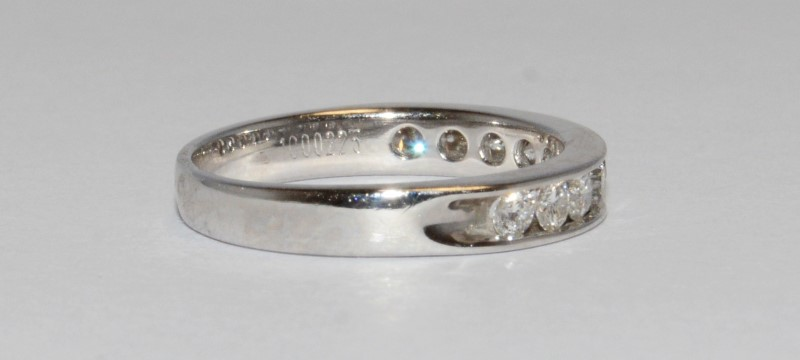 Lady's Diamond Wedding Band 10 Diamonds .50 Carat T.W. 18K White Gold 2.81g