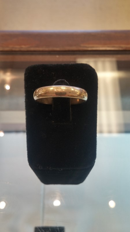 Gent's Gold Wedding Band 14K Yellow Gold 5.5g Size:12