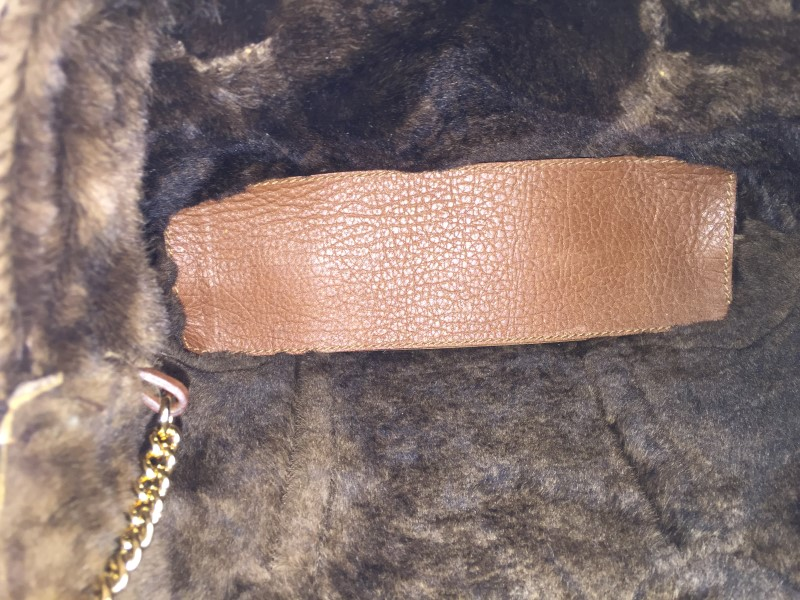 DOLCE & GABBANA BROWN STUDDED SUEDE/SNAKE SHOPPER