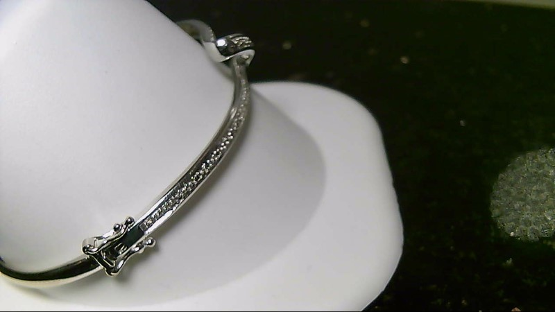 "6"" Inch Brilliant Round Cut Diamond 10K White Gold Twist Bracelet WG"