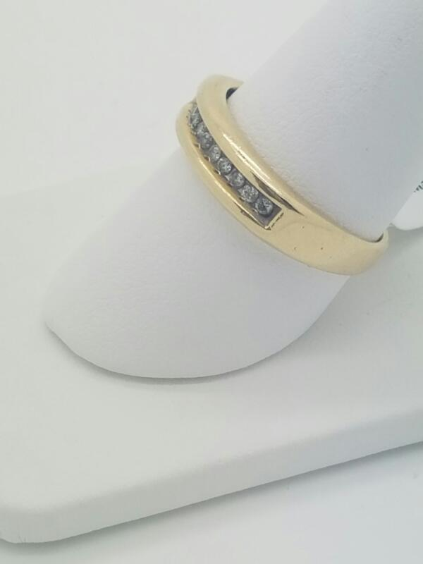 M'S 14KT Gent's Gold-Diamond Wedding Band DIAMOND 11 Diamonds .33 Carat T.W.
