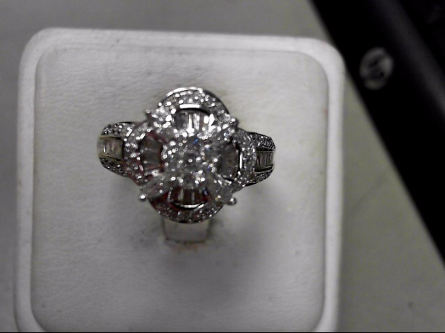 Lady's Diamond Fashion Ring 64 Diamonds .75 Carat T.W. 10K Yellow Gold 5.7g