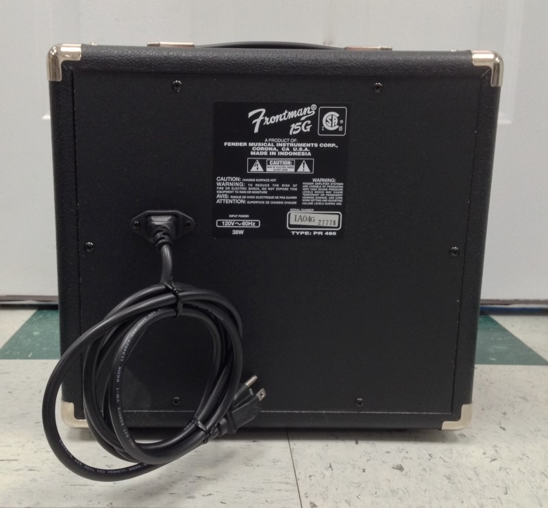 FENDER ELECTRIC GUITAR AMP MODEL FRONTMAN 15G 15 WATTS