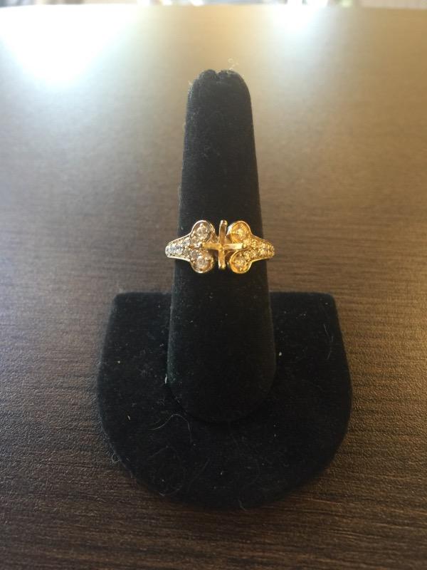Lady's Diamond Engagement Ring 20 Diamonds .78 Carat T.W. 14K Yellow Gold 4.8g