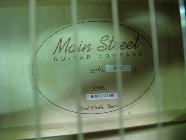 MAIN STREET GUITARS Acoustic Guitar MARF