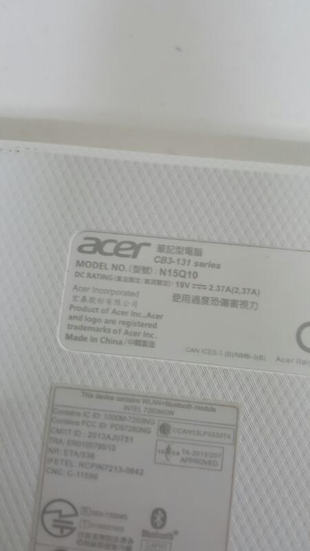"Acer CB3-131-C3KD (11.6"", 16gb, 2gb, Celeron N2840 @ 2.16ghz) Chromebook"