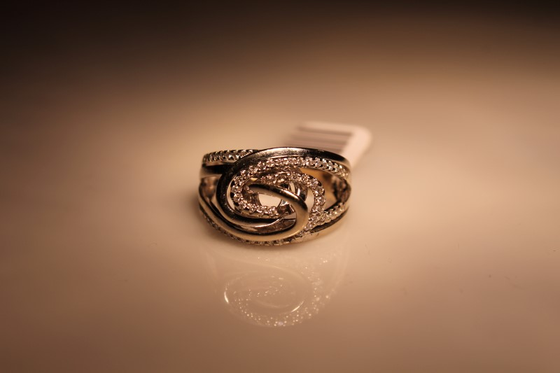 Lady's Diamond Fashion Ring 55 Diamonds .110 Carat T.W. 10K White Gold 6.84g