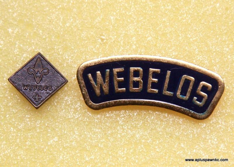 VINTAGE BSA BOY SCOUTS WEBELOS PINS