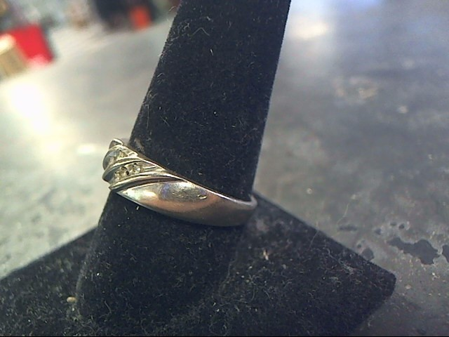 Gent's Gold-Diamond Wedding Band 8 Diamonds .16 Carat T.W. 10K White Gold