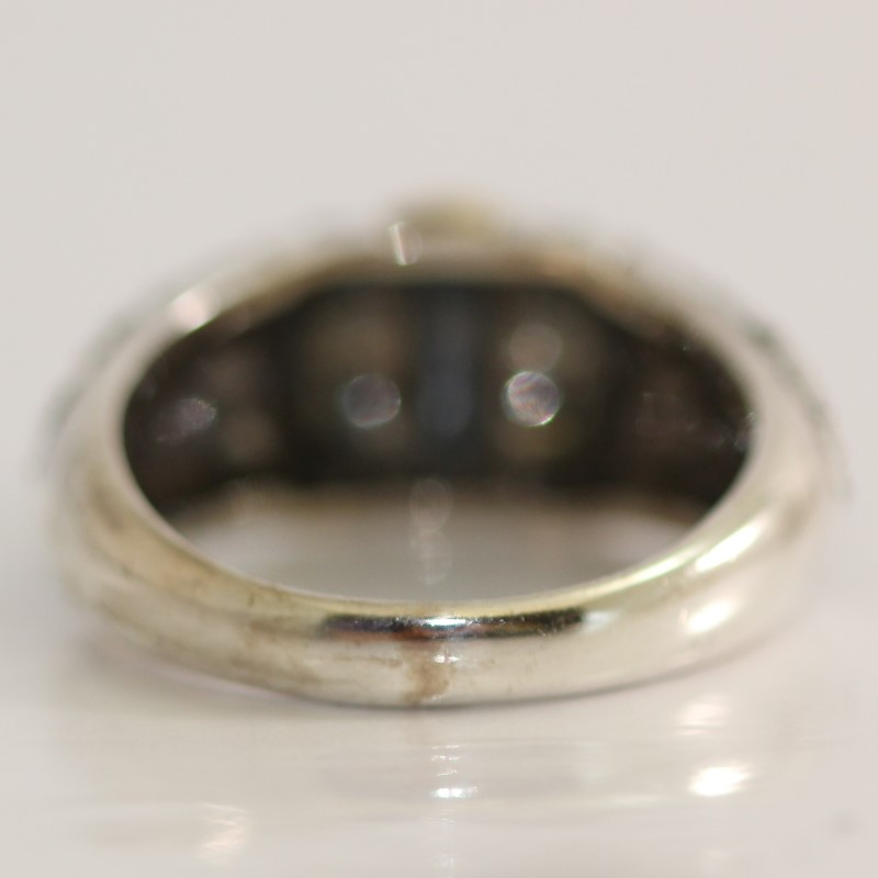 Unique Design Sterling Silver Ring Size 9