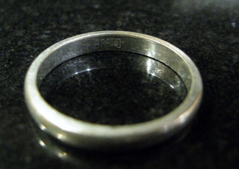 Silver Band 925 Silver 2dwt Size:11, 3.5mm wide