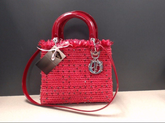 CHRISTIAN DIOR ROUGE TWEED CRYSTAL LIMITED EDITION LADY DIOR