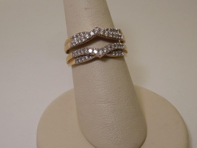 Lady's Diamond Cluster Ring 38 Diamonds .38 Carat T.W. 14K Yellow Gold 5g