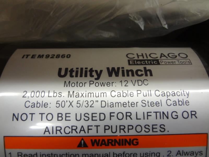 92860 Chicago Electric Winch Wiring Diagram - Wire Data Schema •