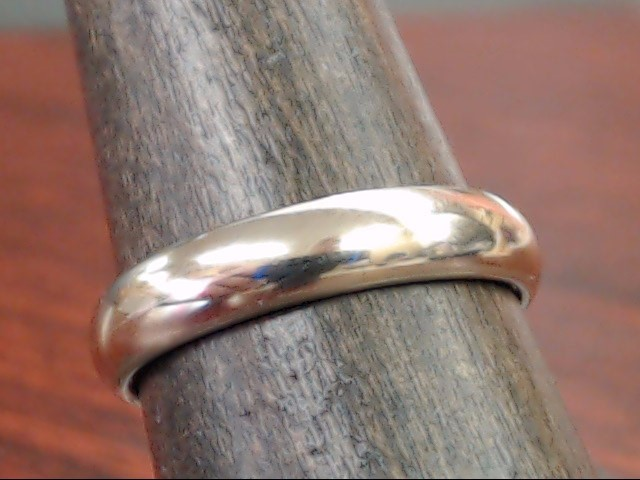 VINTAGE CLASSIC WEDDING RING BAND SOLID REAL 10K WHITE GOLD 4MM SZ 8