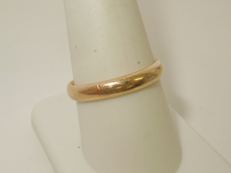 Lady's Gold Wedding Band 14K Yellow Gold 3.7g Size:9.5