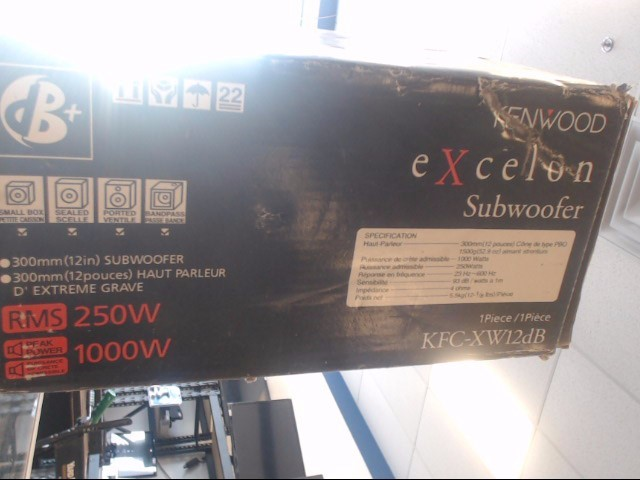 KENWOOD Car Speakers/Speaker System KFC-XW12DB