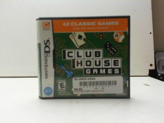 NINTENDO Nintendo DS Game CLUB HOUSE DS GAME