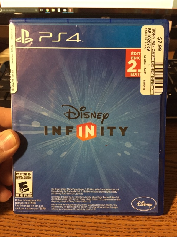SONY PS4 GAME DISNEY INFINTY