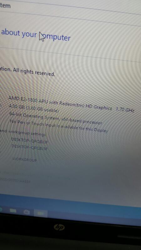 "HP 2000-2c29WM (Win 10, 15.6"", 500gb, 4gb, AMD E2 @ 1.70ghz)"