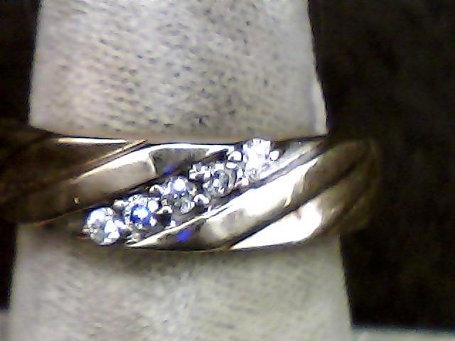 Gent's Gold-Diamond Wedding Band 5 Diamonds .05 Carat T.W. 10K Yellow Gold