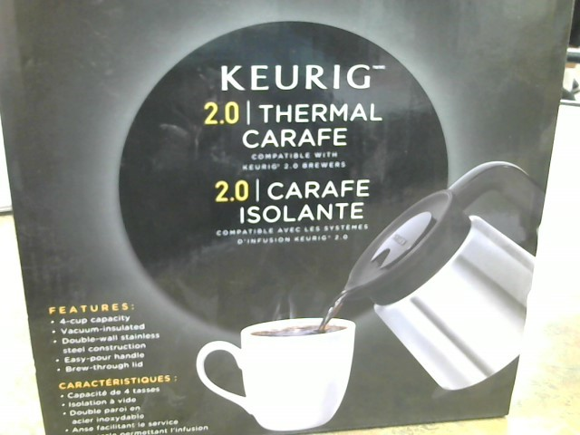 KEURIG Coffee Maker 2.0 CARAFE ISOLANTE