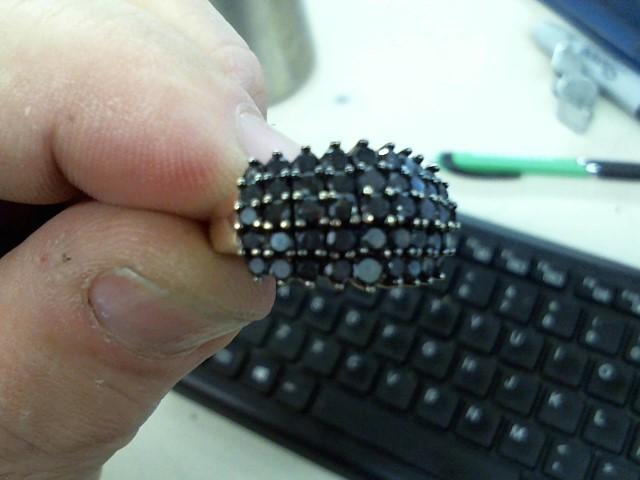 Lady's Diamond Cluster Ring 45 Diamonds 1.35 Carat T.W. 10K Yellow Gold 4g