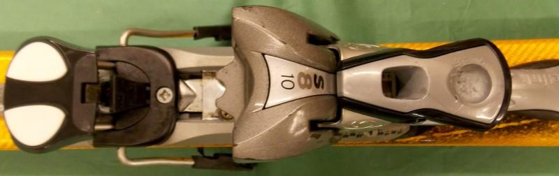 2001 SALOMON X SCREAM SERIES 187CM SKIIS, SALOMON S180 BINDINGS & CARRYING BAG