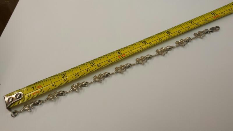 Silver Bracelet 925 Silver 5.82dwt GECKO