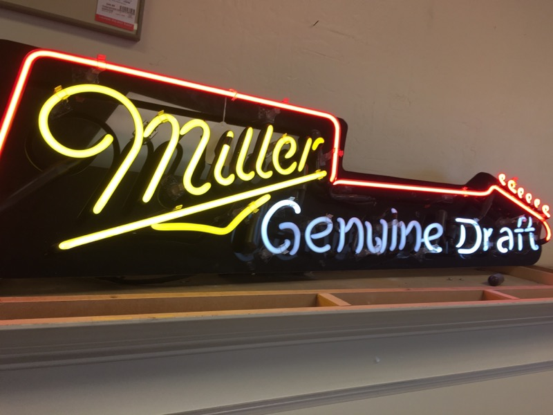 MILLER GENUINE DRAFT Sign SIGN
