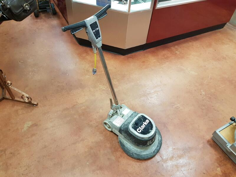 Clarke FM 1700 Polisher 17 Inch Floor Machine, 175 RPM, 1 HP