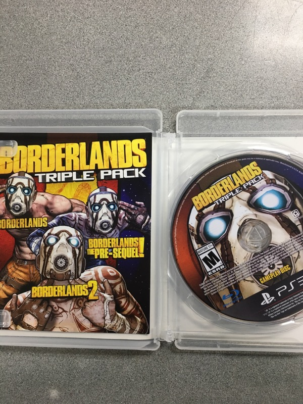 SONY Sony PlayStation 3 Game BORDERLANDS TRIPLE PACK