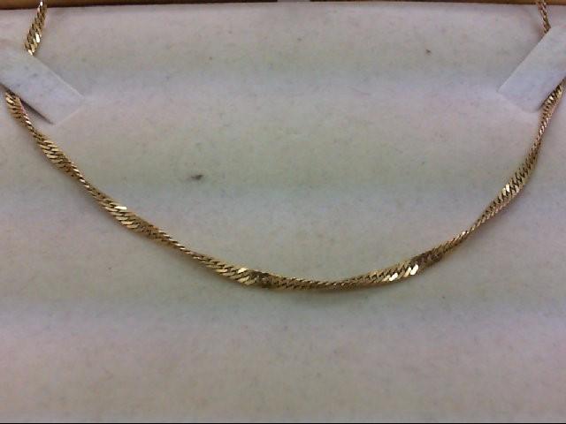 "18"" Gold Fashion Chain 14K Yellow Gold 6.3g"