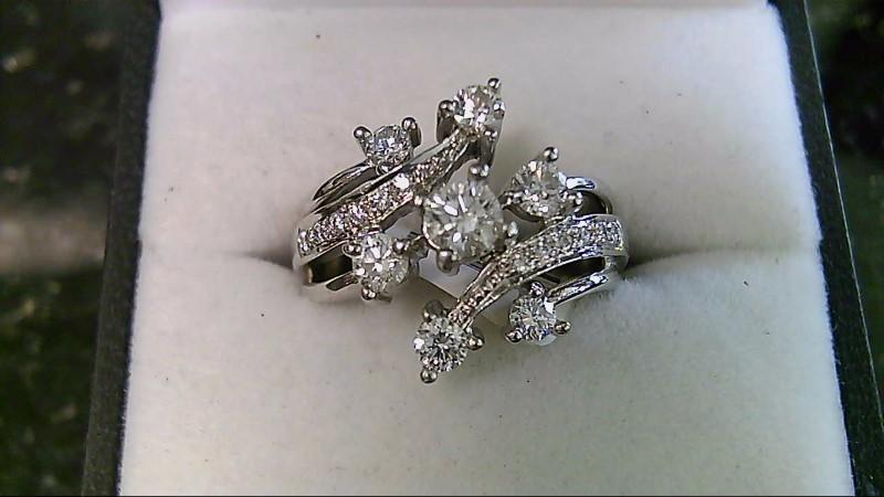 Fashion Multi Diamond 14K White Gold Ring