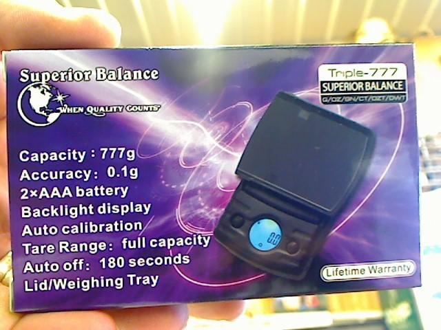 SUPERIOR BALANCE Scale TRIPLE-777